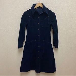 Vintage Landlubber Corduroy Dress